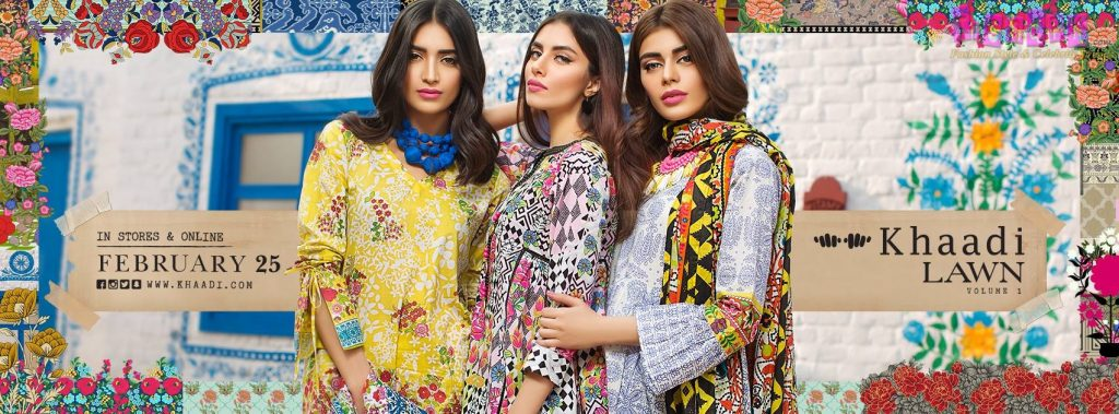 Khaadi's Spring Summer Lawn Collection 2017 Volume-1