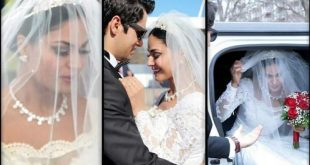 Veena Malik White Wedding Dress