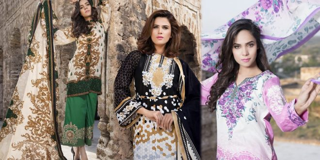 German Embroidered Lawn Collection 2017